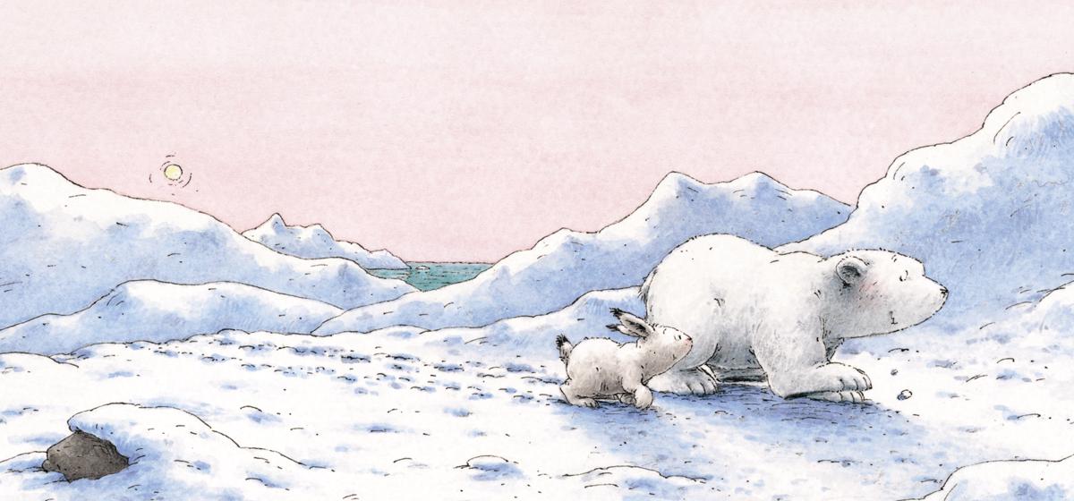 """Иллюстрация к сказке """"Ларс и пугливый зайчик"""""""